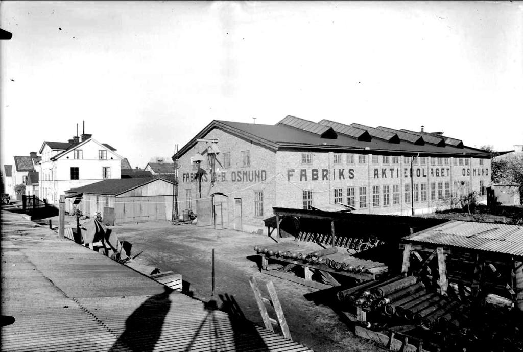 Fabriken på Adilsgatan år 1935. Foto Axel Sagerholm. UM