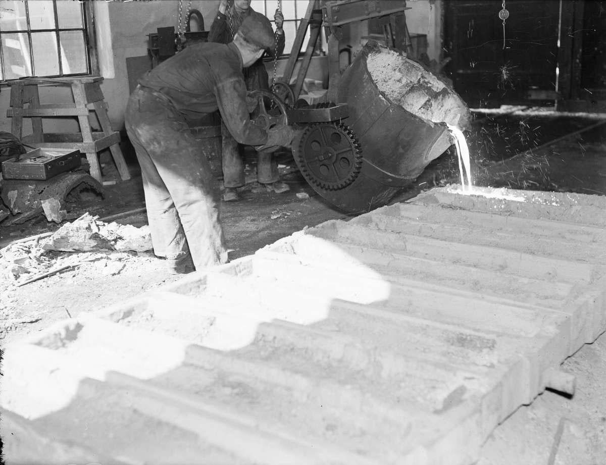 Gjutning hos Stål & Maskin år 1935