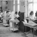 Pressning av tvål 1954. Östlings.